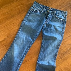 """7 for all mankind """"A"""" Pocket Bootcut Jeans sz28"""